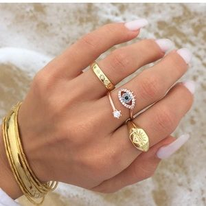 HAMSA EVIL EYE PROTECTION RING